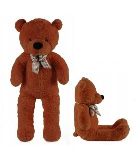 VELKÝ Plyšový medvěd 130 cm tmavě hnědé