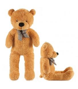 VELKÝ Plyšový medvěd 130 cm světle hnědá
