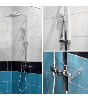 DEŠŤOVÁ sprchová baterie černá matset