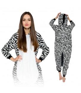 Zebra KIGURUMI ONESIE TEPLÁKY PYŽAMO KOMBINÉZA KIGU