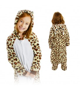 Kigurumi Onesie pyžamo kigu pro děti leopard