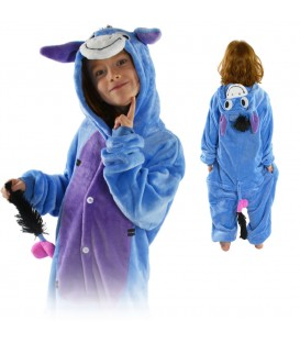 Overal Onesie pyžamo pro děti oslík
