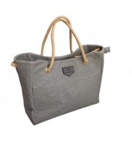 Dámská taška velká taška eko materiál A4 – VAK šedá