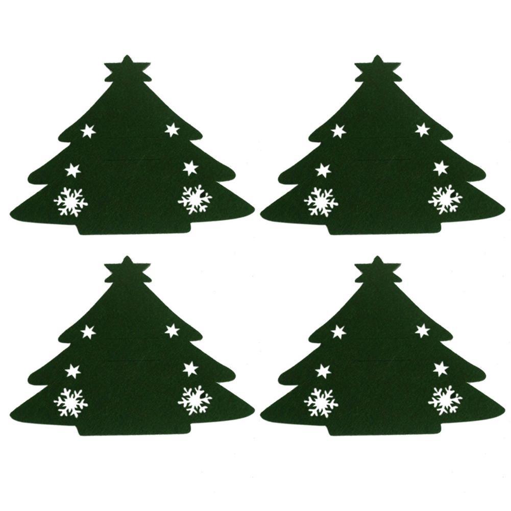 Obleček na příbory stromeček, obal, zelený 4ks