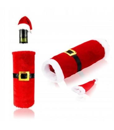 Obleček na láhev Santa čepice