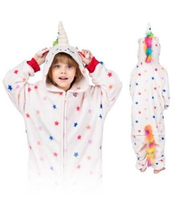 Kigu Onesie pyžamo pro děti JEDNOROŽEC V HVĚZDICKY