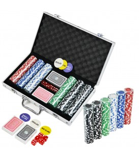 POKER SADA 300 žetonů hrací karty v kufru