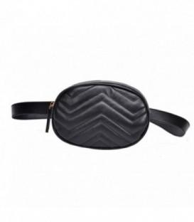 kabelka vak ledvinka na bedra ramena AB18032 Černá