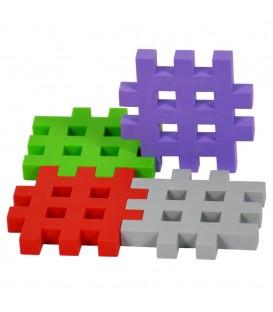 Puzzle smyslové vafle puzzle 4 ks.