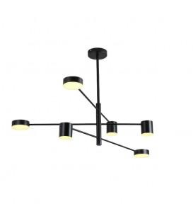 Moderní závěsná lampa LED loft 6 ramen