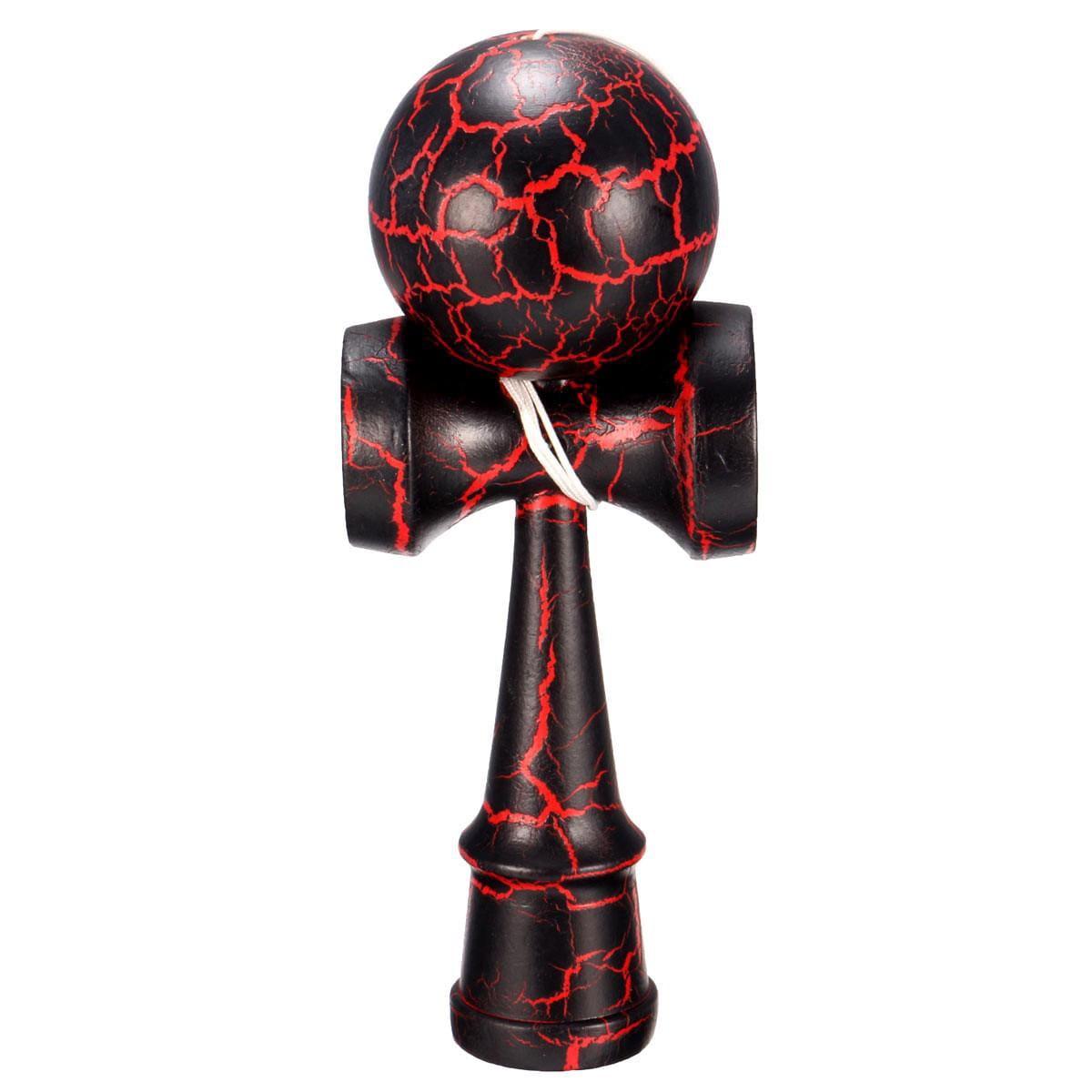 Kendama dřevěná arkádová hra červená hračka