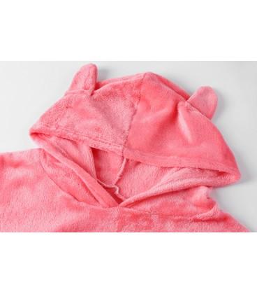 Pyžama kočka teplý sada meow růžová