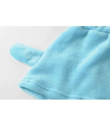 Pyžama kočka teplý sada meow modrá