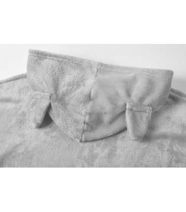 Pyžama kočka teplý sada meow šedá