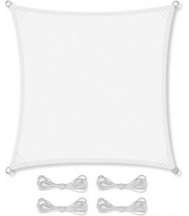 SLUNEČNÍ PLACHTA stříška STÍNĚNÍ 5x5 m bílá