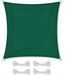 SLUNEČNÍ PLACHTA stříška STÍNĚNÍ 5x5 m zelená
